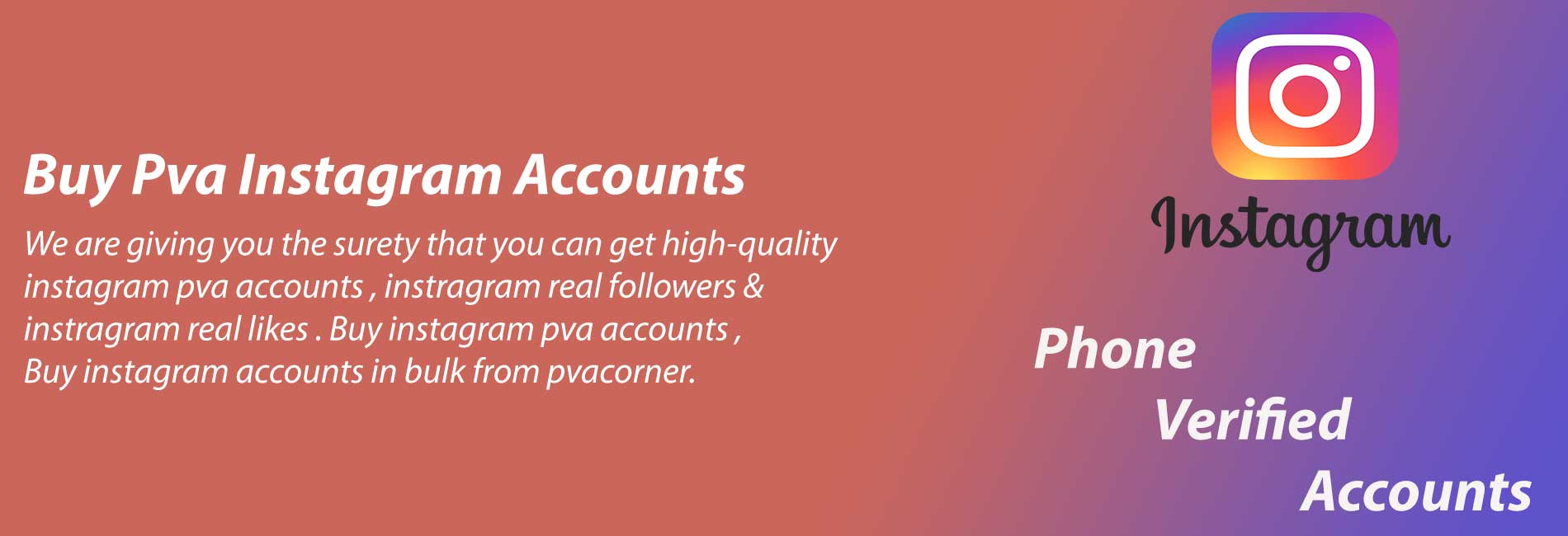 Buy pva instagram accounts