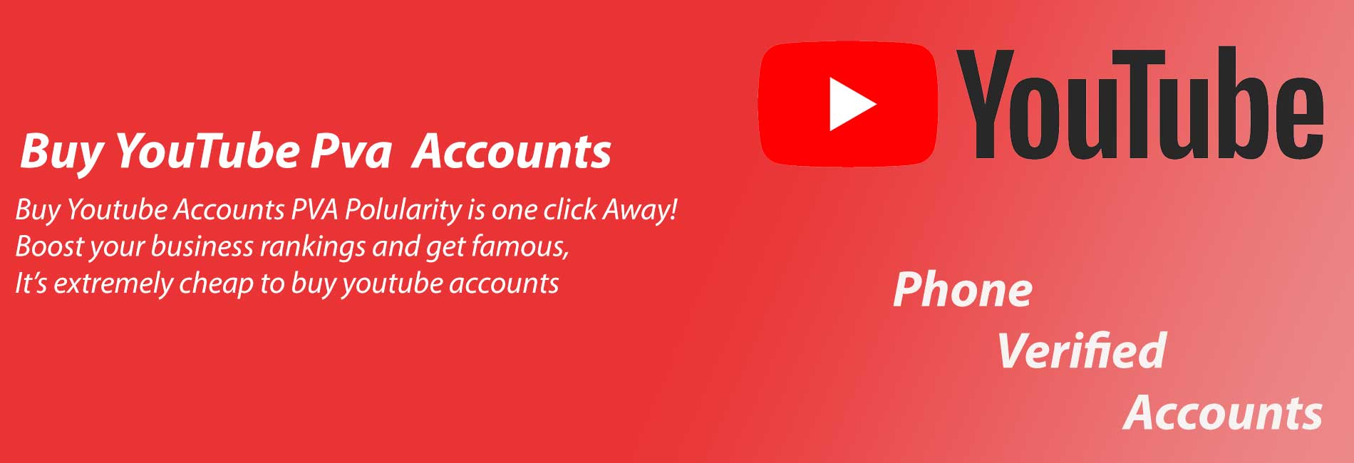 Buy pva youtube accounts